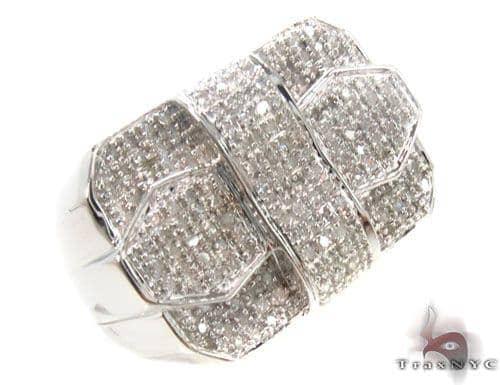 Prong Diamond Silver Ring 34520 Metal