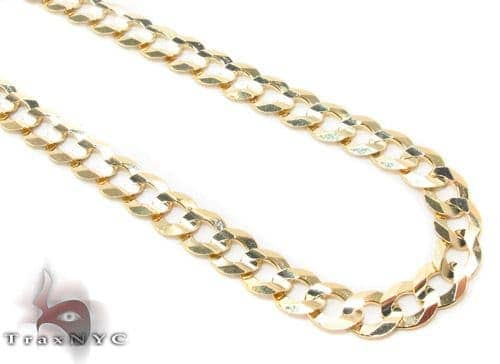 14k Gold Curb Chain 24 Inches 4.5mm 14.1 Grams Gold