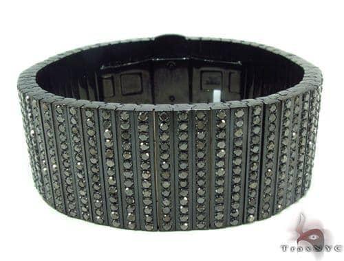 Black Diamond Bullet Bracelet メンズ ダイヤモンド ブレスレット