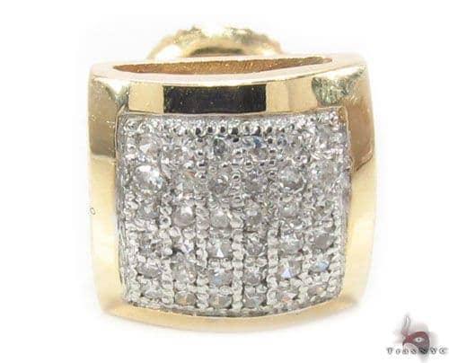 Micro-Pave Diamond Single Earring 34714 Style