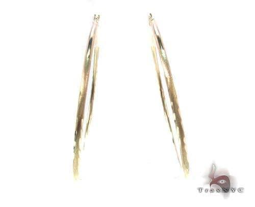 10K Gold Hoop Earrings 34724 Metal