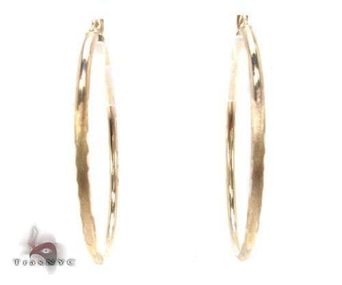 10K Gold Hoop Earrings 34725 Metal