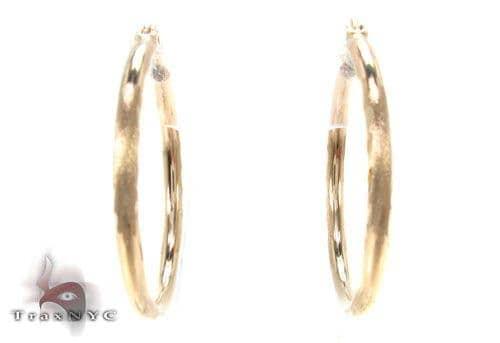 10K Gold Hoop Earrings 34728 Metal