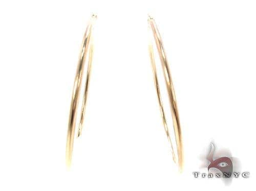 10K Gold Hoop Earrings 34730 Metal