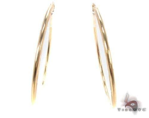 10K Gold Hoop Earrings 34733 Metal