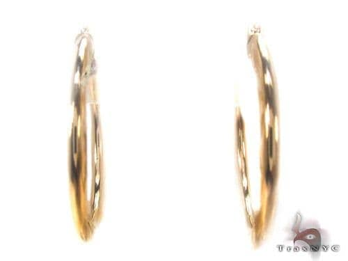 10K Gold Hoop Earrings 34735 Metal
