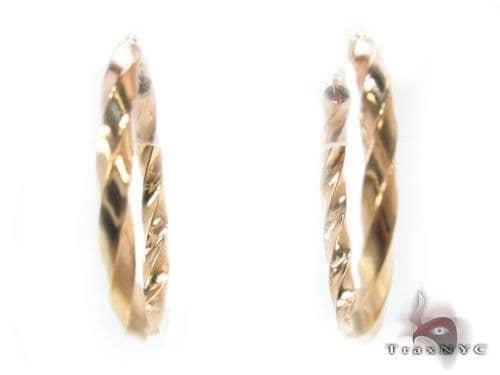 10K Gold Hoop Earrings 34741 Metal