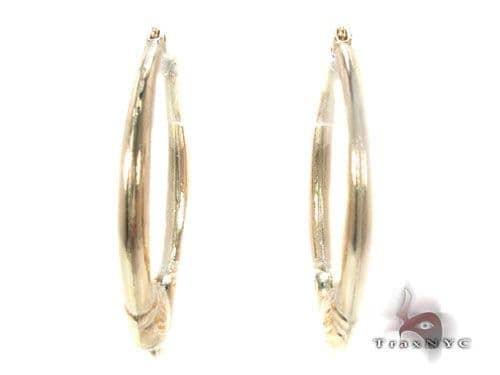 10K Gold Hoop Earrings 34744 Metal