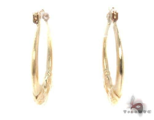 10K Gold Hoop Earrings 34746 Metal