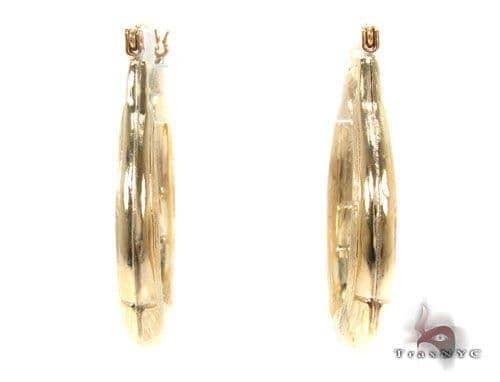 10K Gold Hoop Earrings 34747 Metal