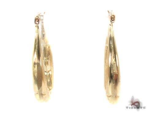 10K Gold Hoop Earrings 34748 Metal