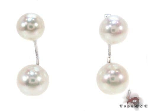 Ladies Pearl Earrings Stone