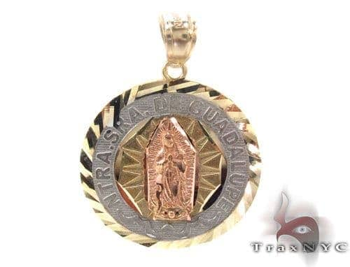 10k gold guadalupe pendant mens gold pendant gold 10k traxnyc 10k gold guadalupe pendant mozeypictures Choice Image