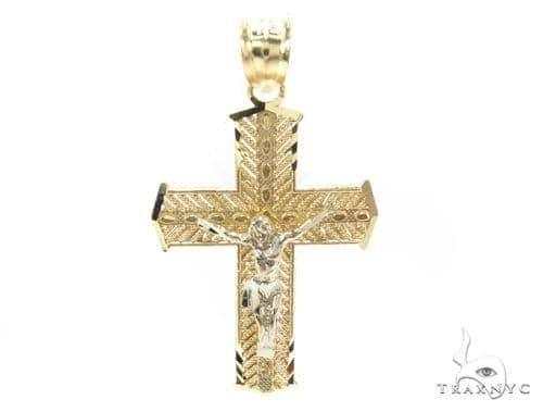 10k Gold Cross 34854 Gold