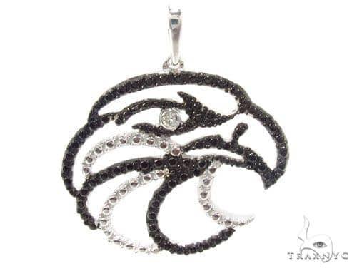 Bezel Diamond Silver Pendant 34986 Metal