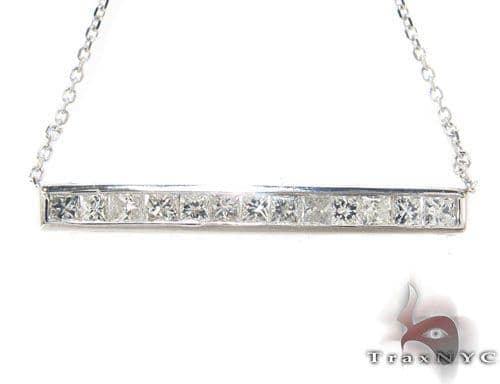 Invisible Diamond Bar Necklace Diamond