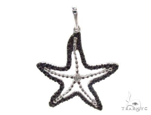 Bezel Diamond Starfish Pendant 34991 Metal