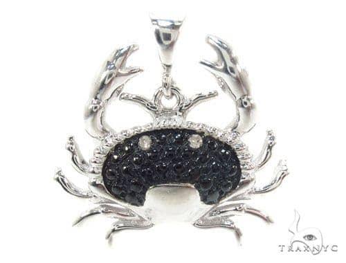 Prong Diamond Crab Pendant 34992 Metal