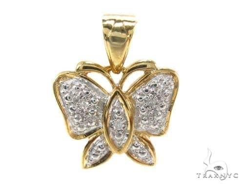 Bezel Diamond Silver Pendant 35007 Metal