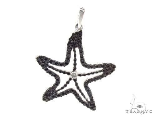 Bezel Diamond Silver Starfish Pendant 35010 Metal