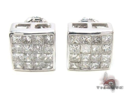 Invisible Diamond Earrings 35049 Stone