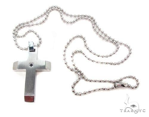 Stainless Steel Cross n 24 Inches 2.5mm 16.6 Grams Stainless Steel