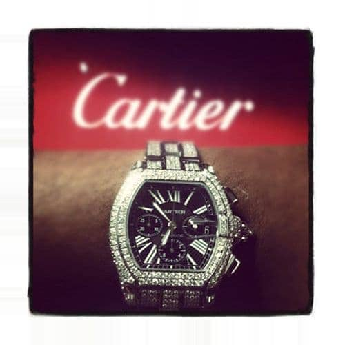 Cartier Roadster Chronograph Black Dial Diamond Watch Cartier