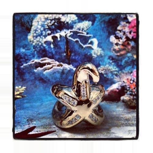 Custom Starfish Ring Stone