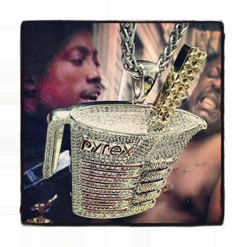 Prong Diamond Pyrex Custom Pendant Metal