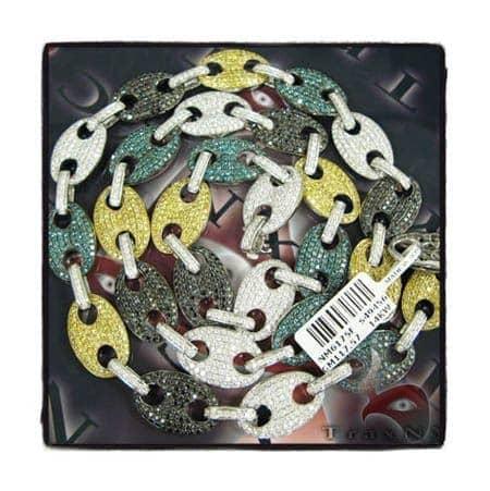 Multi Color Anchor Chain 27.75 Inches, 117 Grams Diamond