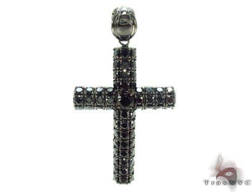 CZ Silver Black Cross 35528 Silver