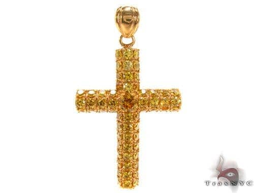 CZ Silver Yellow Cross 35528 Silver