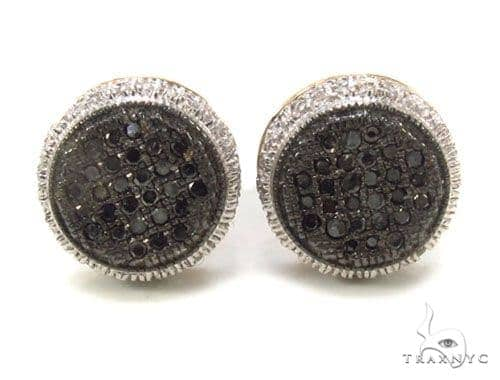 Micro-Pave Black Diamond Earrings 35537 Stone
