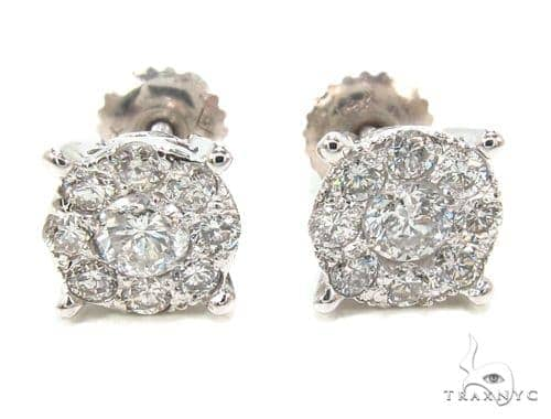 Prong Diamond Earrings 35588 Stone