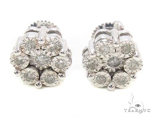 Diamond Flower Stud Earrings 35656 Style