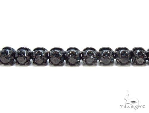 Prong Black Diamond Chain 32 Inches 4mm 68 Grams Diamond