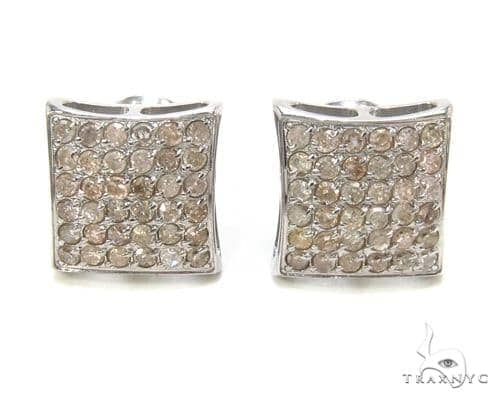 Prong Diamond Stainless Steel Earrings 35676 Stainless Steel Earrings
