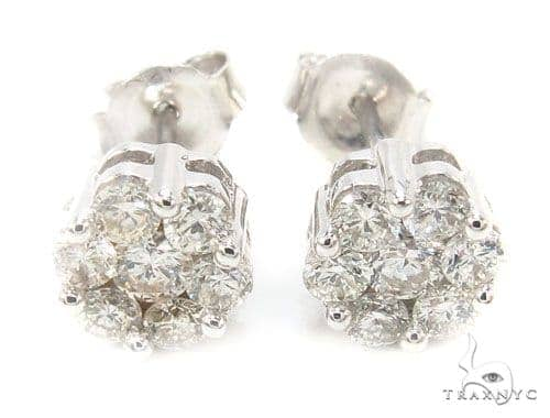 Prong Diamond Earrings 35917 Stone