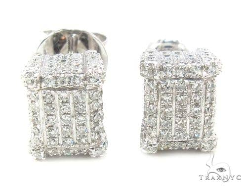 Prong Diamond Earrings 35928 Stone