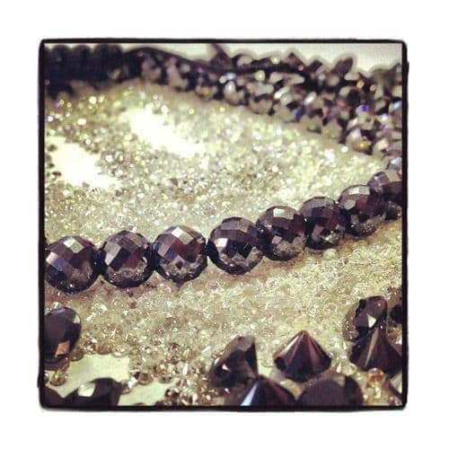 Pineapple Cut Black Diamond Rope Bracelet
