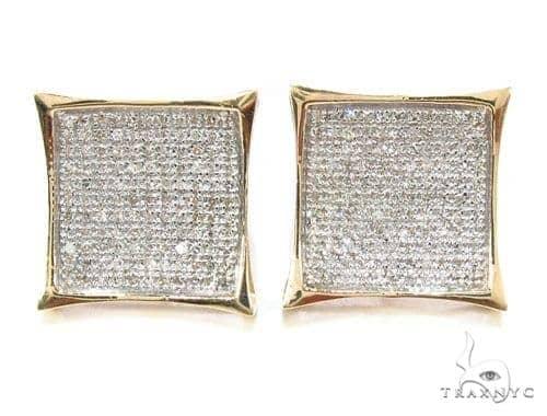 Micro-Pave Diamond Earrings Stone