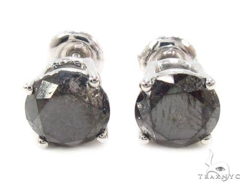 Prong Black Diamond Earrings 36010 Stone