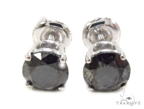 Pron Black Diamond Earrings 36019 Stone