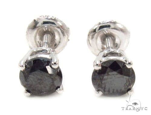 Pron Black Diamond Earrings 36020 Stone
