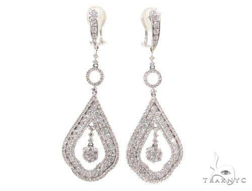 Prong Diamond Chandelier Earrings 36098 Style