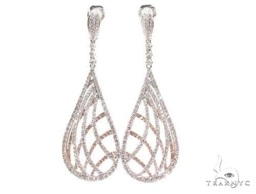 Prong Diamond Chandelier Earrings 36099 Style