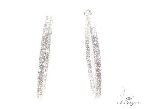 Prong Diamond Hoop Earrings 36101 Style