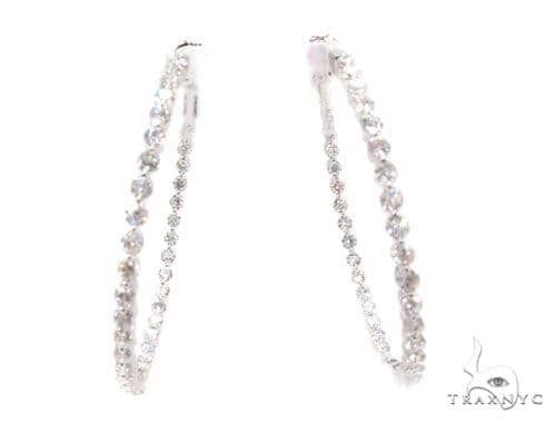 Prong Diamond Hoop Earrings 36102 Style