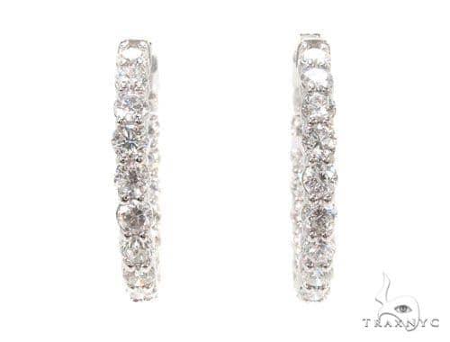 Prong Diamond Hoop Earrings 36111 Style