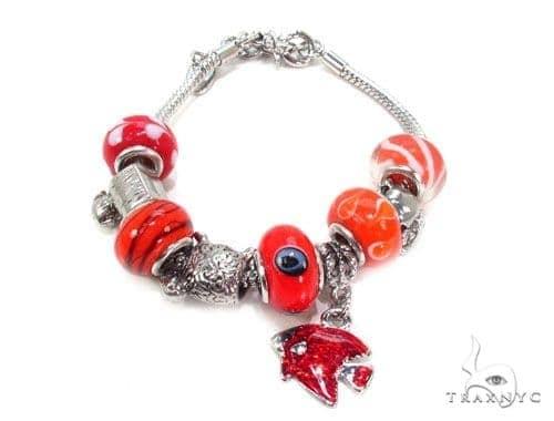 CZ Brass Bracelet 36127 Silver & Stainless Steel